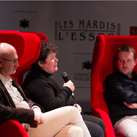 Eric Fottorino, Claire Carrard et Rémy Buisine